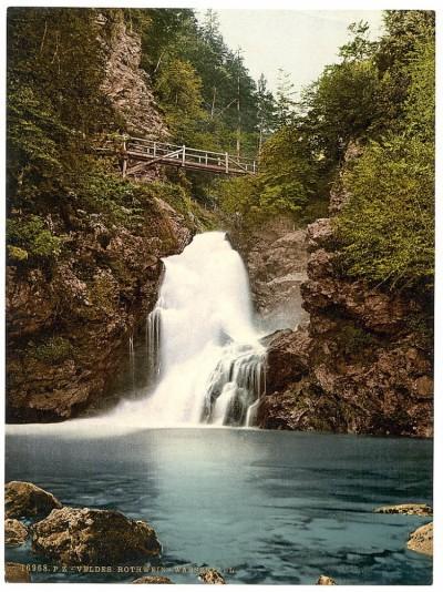 Vodopad, Bled - Kranjska (Carniola), Slovenija / Austrougarska (oko 1890)