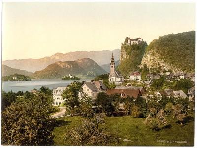 Pogled na Bled, Slovenija / Austrougarska (1890-1900)