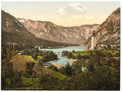 Bohinjsko jezero, Bohinj, Kranjska, Slovenija (1890)