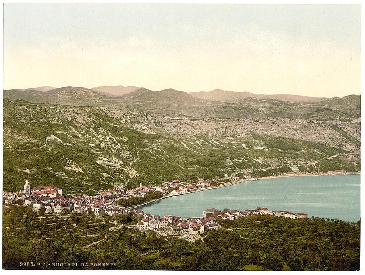 Pogled na Bakar (Buccari), Bakarski zaliv, Hrvatska / Austrougarska (1890)