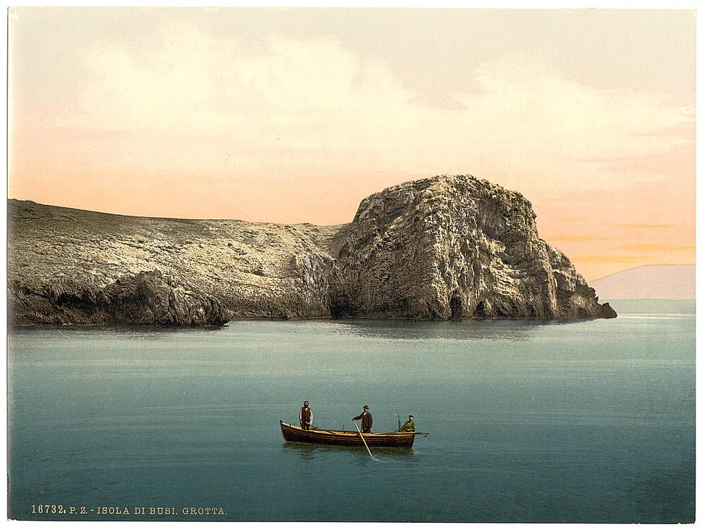 Ostrvo Biševo (Busi), blizu Visa, Jadransko more, oko 1900. g.