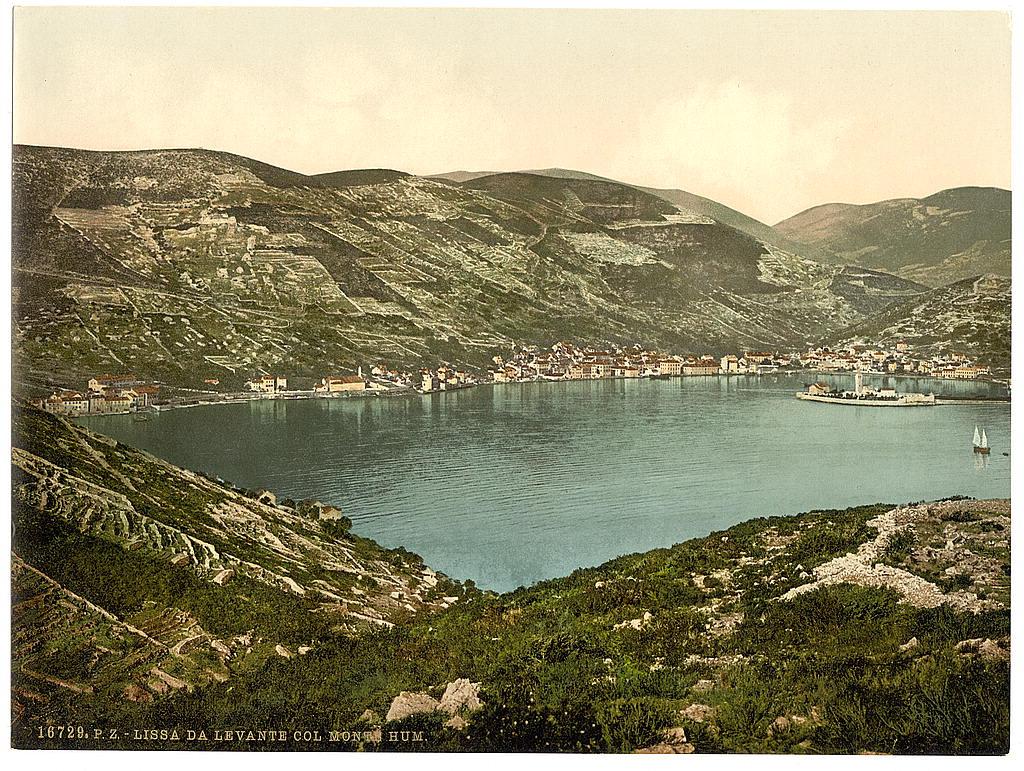 Ostrvo Vis (Lissa), Dalmacija / Austrougarska oko 1890. g.
