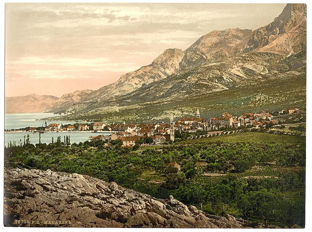 Pogled na Makarsku, Dalmacija, krajem 19. v.