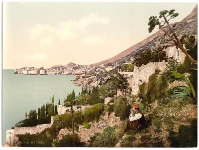 Pogled na Dubrovnik, kraj XIX veka, Dalmacija