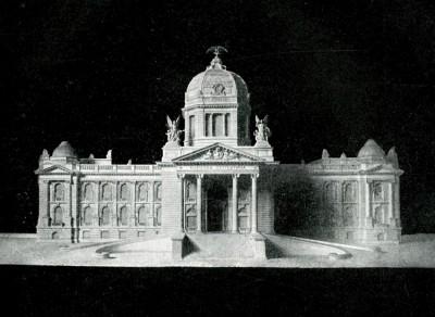 Nacrt zgrade Narodne skupštine u Beogradu objavljen 1911.