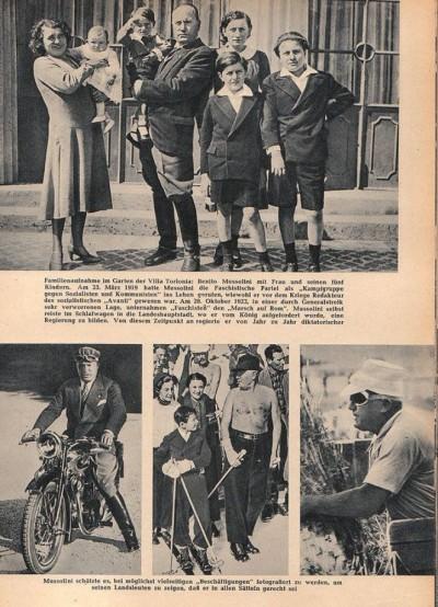 Benito Musolini sa ženom i decom