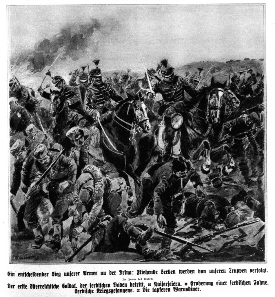 Prikaz bitke na Drini u austrijskoj štampi od 23. avgusta 1914.