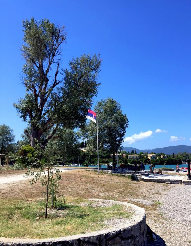 Guvija, Krf. Mesto iskrcavanja srpske vojske nakon albanske golgote 1916.