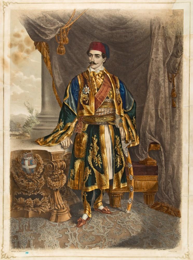 Knez Mihailo Obrenovic - litografija u boji, Anastas Jovanovic