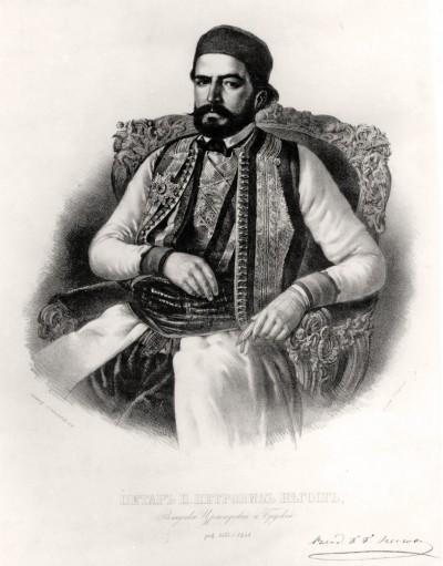 Petar P. Njegoš : Litografija Anastasa Jovanovića