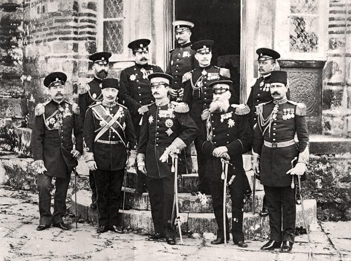 Aleksandar Obrenović u poseti Hilandaru 1896. Delegacije Kraljevine Srbije, Osmanskog carstva i Kraljevine Grčke
