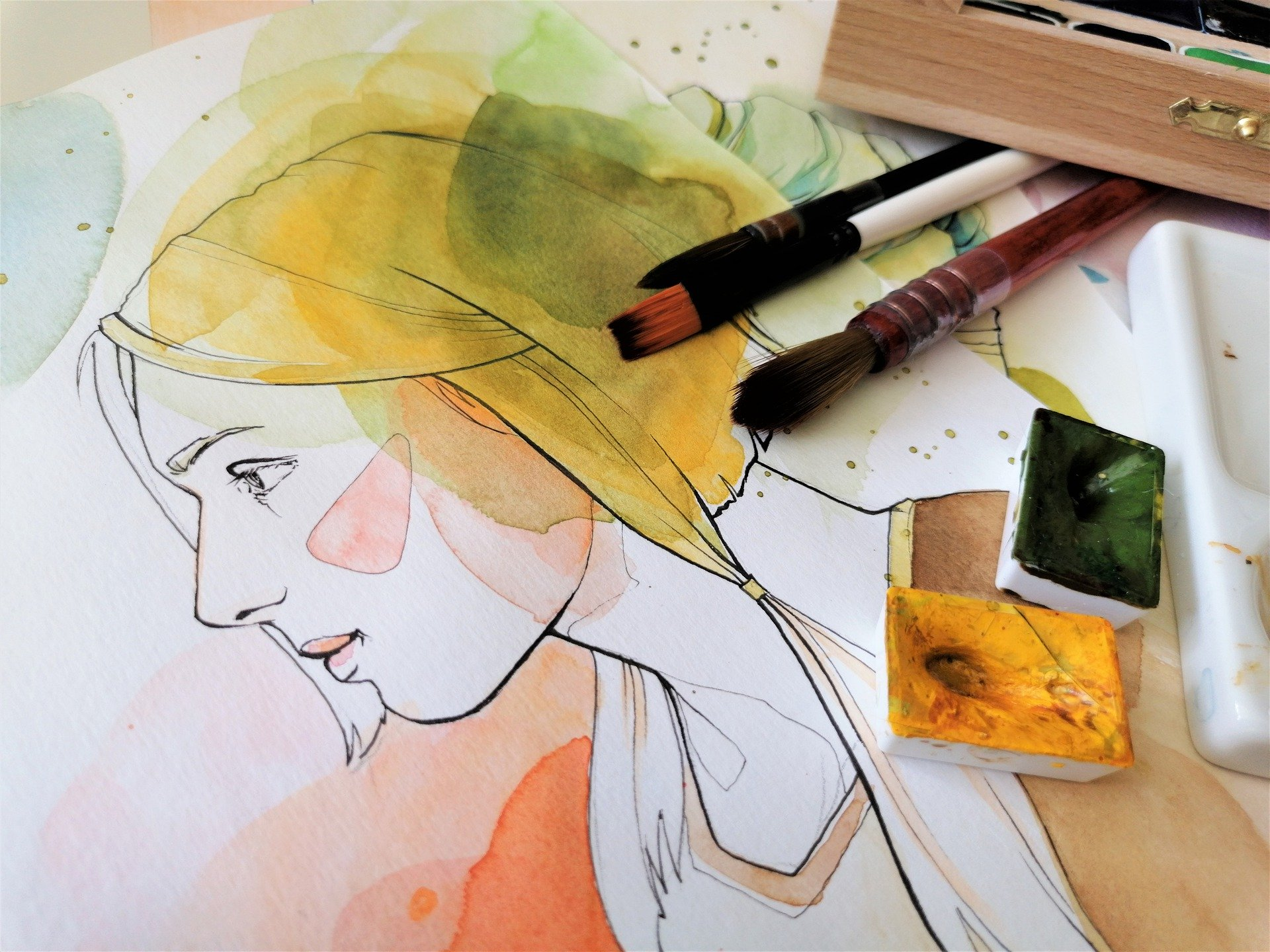 Akvarel - Portret u izradi