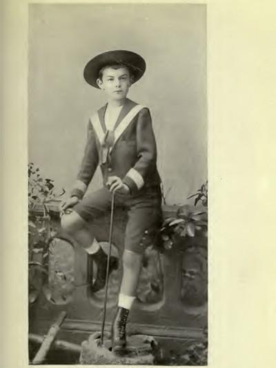 Princ Aleksandar Obrenović kao dečak 80-ih godina XIX veka