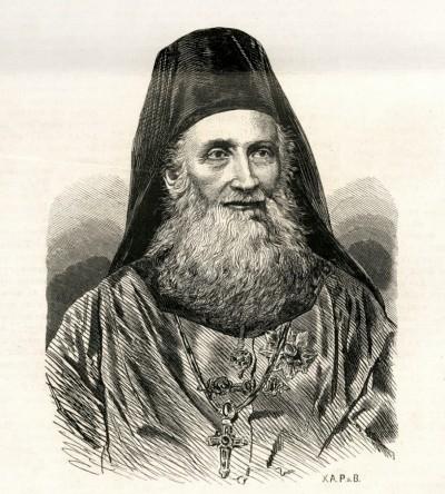 Arsenije Stojković (1804-1892), vladika budimski. Ilustr. iz 1874.
