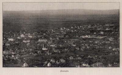 Banja Luka, panorama oko 1900 god.