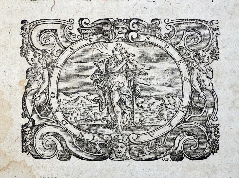 Zaštitna vinjeta štamparije Bartola Đinamija u Veneciji, XVII vek