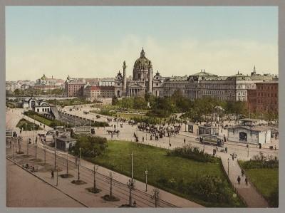 Stari Beč oko 1890: Karlsplatz i Karlskirche, Austrija
