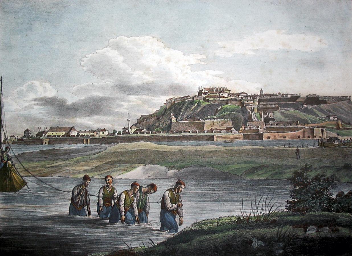 Beogradska tvrđava, litografija iz sredine XIX veka