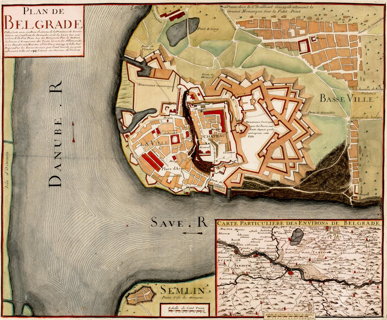Plan Beograda oko 1700. godine