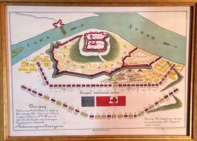 Trgovačka varoš i grad Beograd tokom opsade 1688. god. (gravira iz XIX veka)