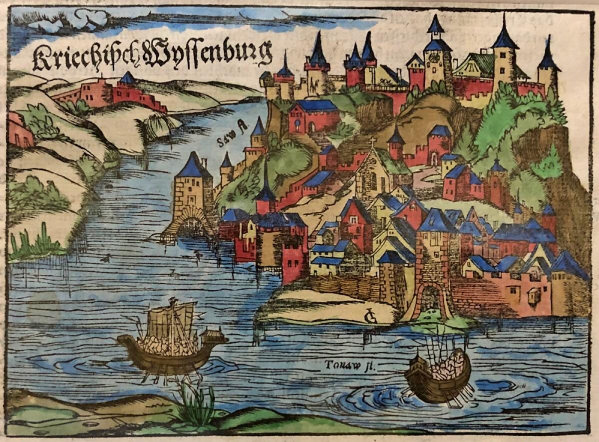 Turska opsada Beograda 1521. godine. Drvorez iz 1578. god.