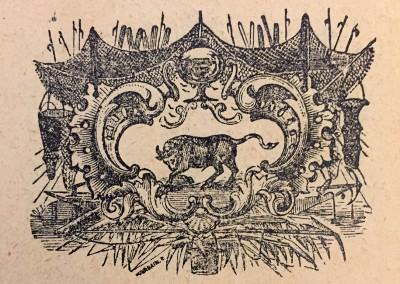 Bik, horoskopski znak. Vinjeta iz 1914. god.