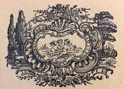 Blizanci, horoskopski znak. Vinjeta iz 1914. god.