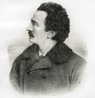 Mladi Branislav Đ. Nušić, srpski književnik. Slika objavljena 1896. g.