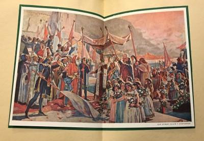 Car Dušan ulazi u Dubrovnik (Marko Murat). Ilustracija iz Ćorovićeve Istorije Jugoslavije (1933)