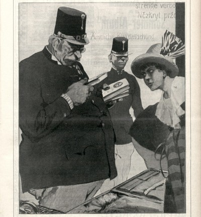 Cenzura knjiga u Austrougarskoj 1914. godine, ilustracija