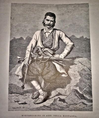 Crnogorac pod oružjem u planini 1883.