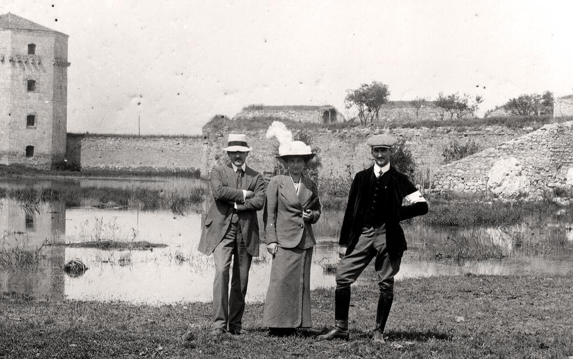 Jovan Cvijić (levo) i Niko Županić (desno) na Kalemegdanu u Beogradu