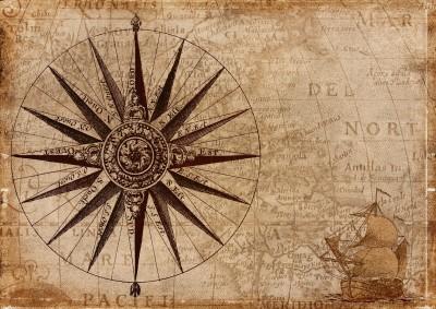 Dekorativna pomorska stara mapa