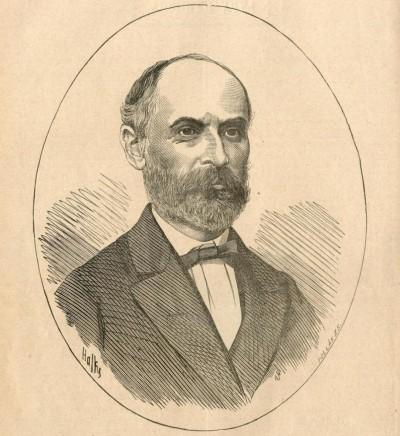 Đura Daničić, portret objavljen 1882. povodom Đurine smrti