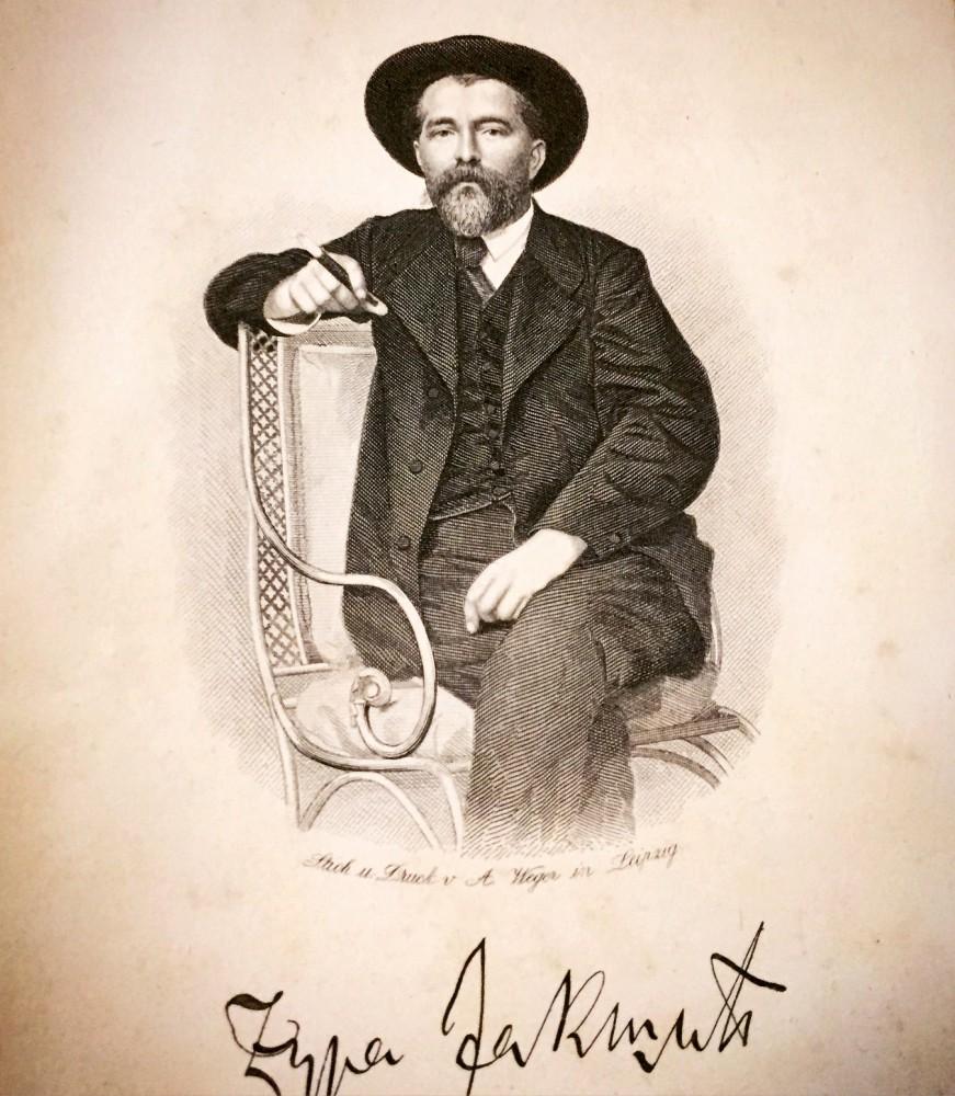 Đura Jakšić : Portret, XIX vek
