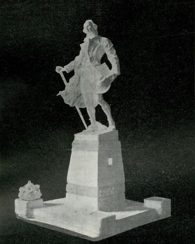 Rudolf Valdec: Nacrt spomenika Dositeju Obradoviću iz 1911. godine
