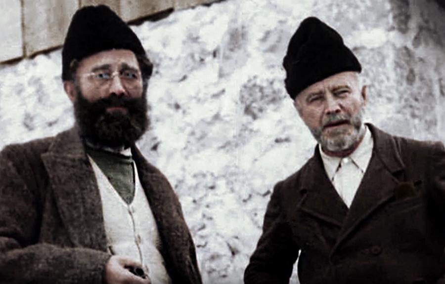 Dragoljub Draža Mihailović i Dragiša Vasić tokom Drugog svetskog rata