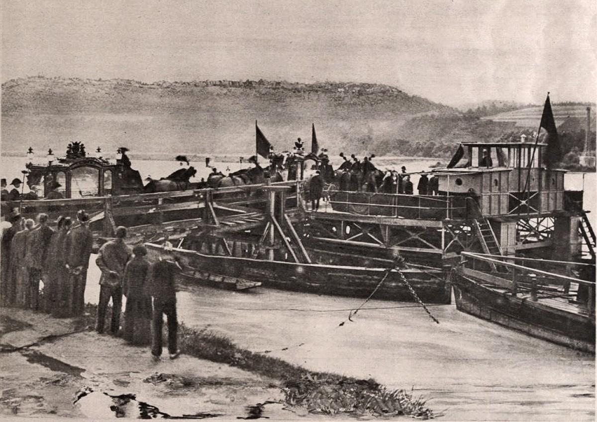 Sarajevski atentat: Dunav. Prenos tela Franca Ferdinanda i Sofije brodom iz Bosne ka Austriji