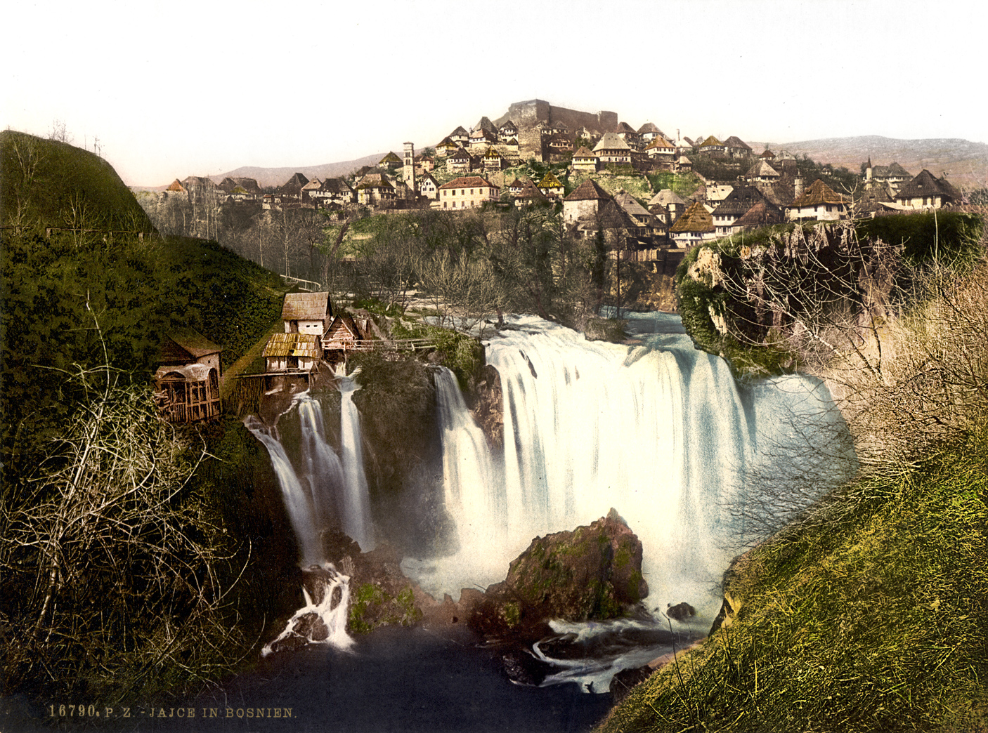 Grad Jajce, Bosna (oko 1890) HQ