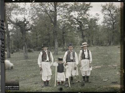 Mali pastiri u okolini Beograda, selo Kumodraž 1913. g.