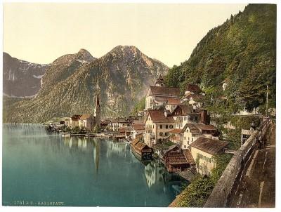 Halštat, Austrija, oko 1900. god. (Hallstatt)