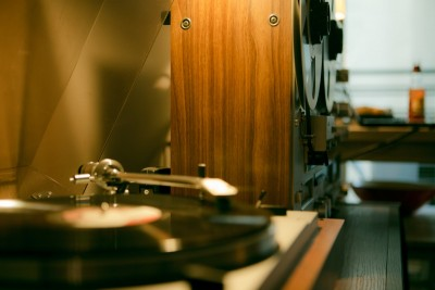 Toshiba Turntable - Akai Reel to Reel - Hi-Fi Audio : Vintage Stereo Setup