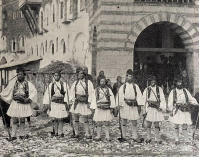Hilandarska garda krajem 19. veka. Manastir Hilandar