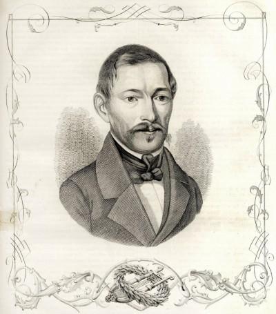 Jovan Sterija Popović 1806-1856. Ilustracija iz 1856. godine