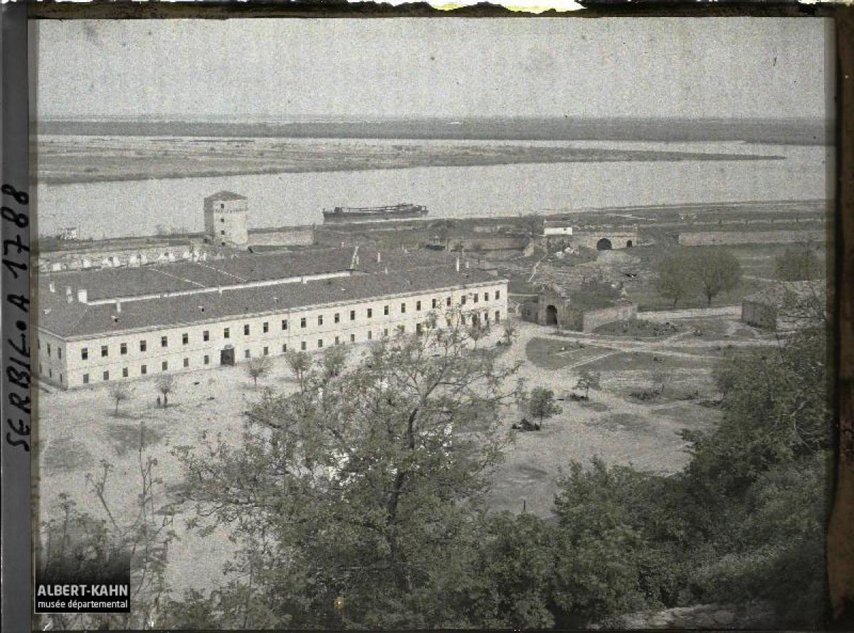 Pogled snimljen sa tvrđave Kalemegdan na ušću Save u Dunav 1913. god.