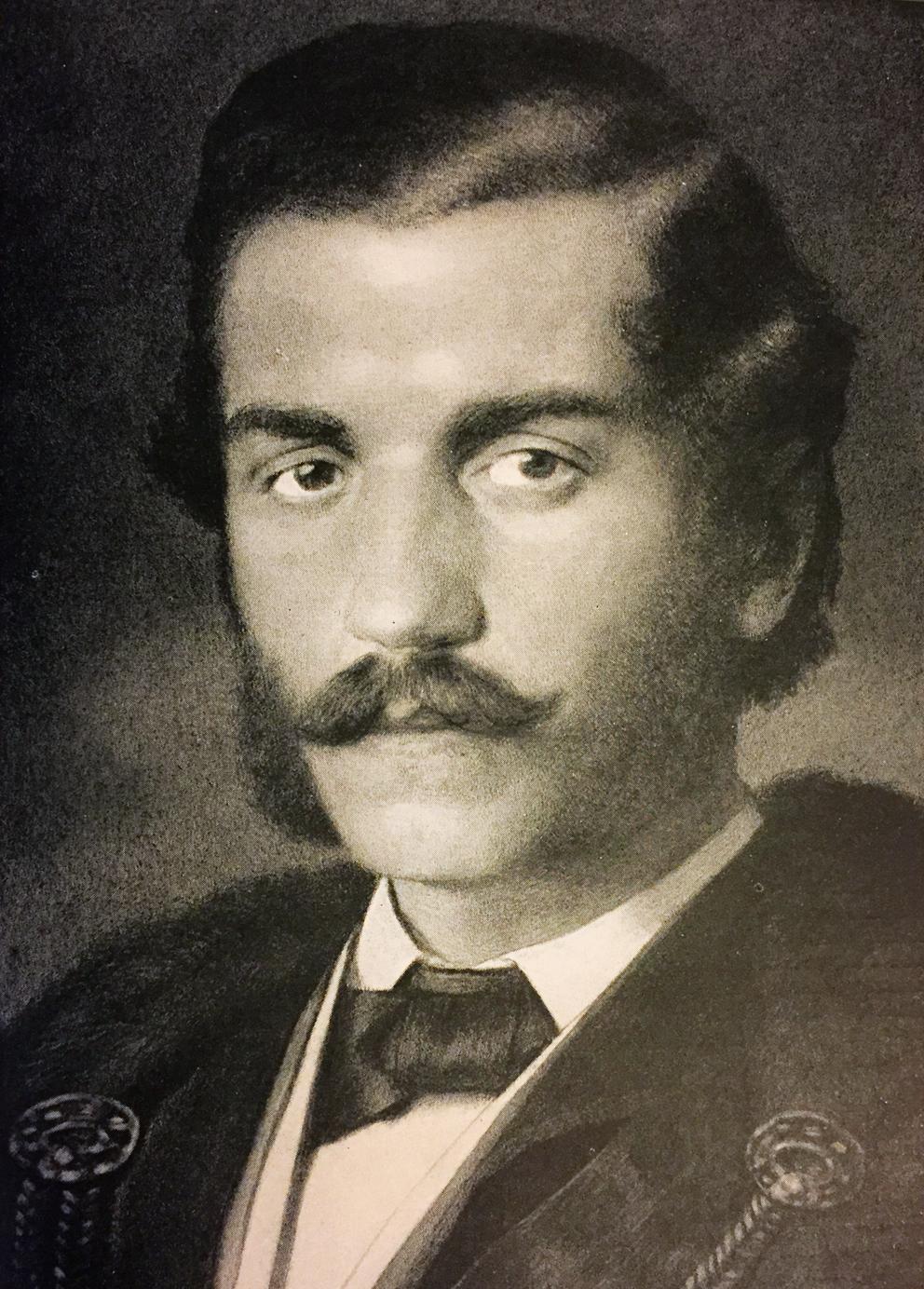 Mihailo Obrenović, portret iz mlađih dana