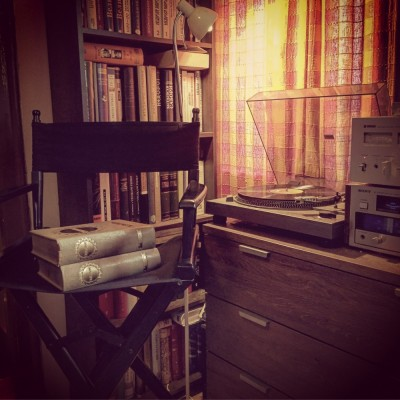 Hitachi gramofon i Sony tuner. Detalj iz knjižare Antikvarneknjige.com