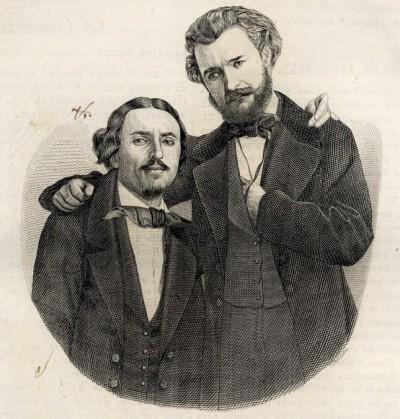 Kornelije Stanković i Stefan Teodorović. Slika objavljena god. 1856.