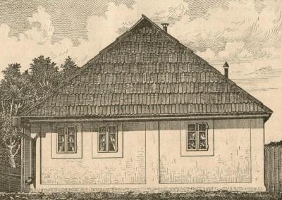 Kuća u kojoj se rodio Branko Radičević. Slavonski Brod. Crtež iz 1882. god.