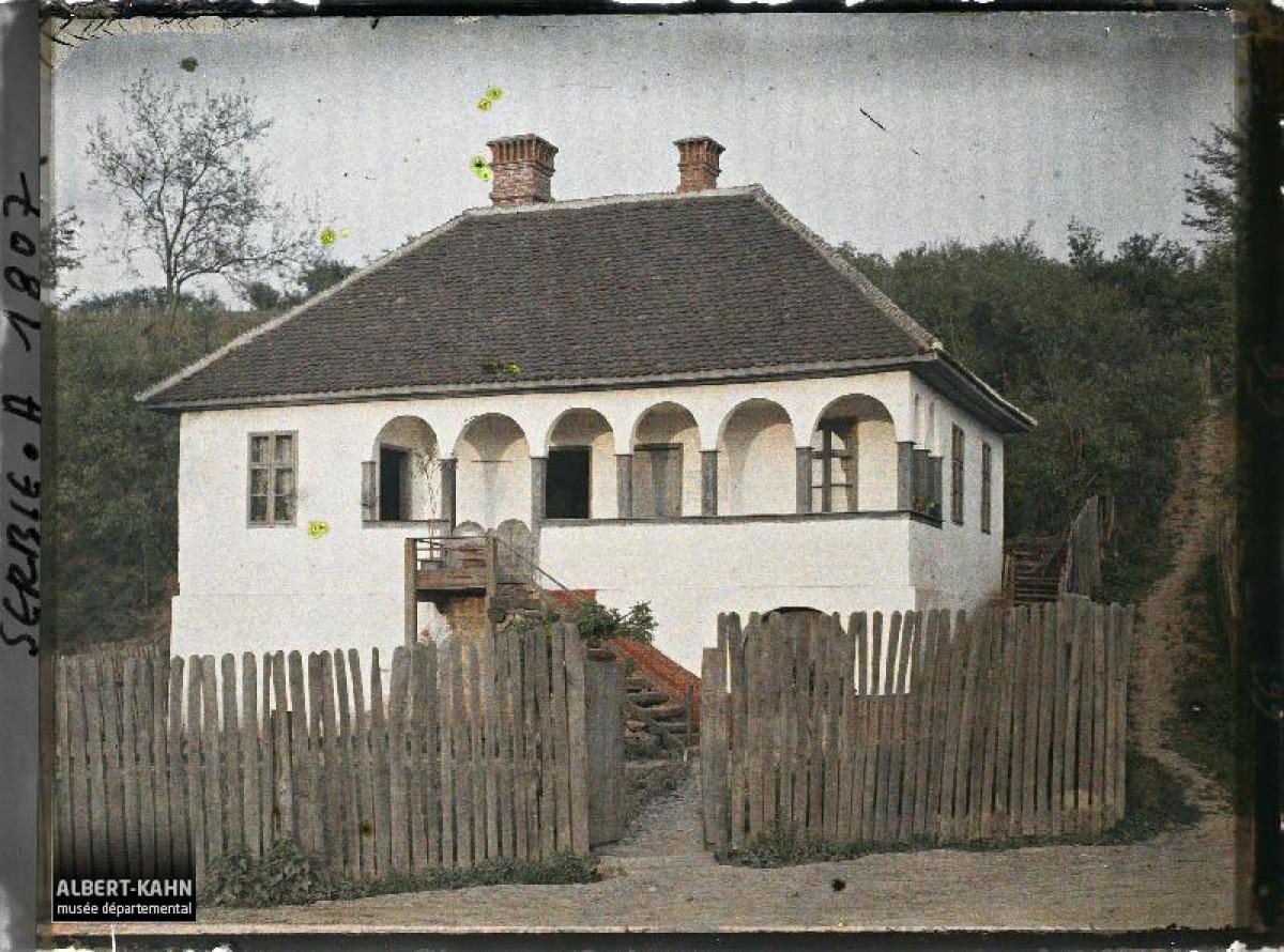 Kuća sa tarabom u mestu Stalać 1913. god.